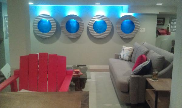 See our Porthole Wall Fish Tanks on the TV Show Mancaves
